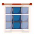 house window vector image