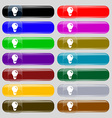 light bulb idea icon sign Big set of 16 colorful vector image
