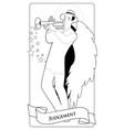 major arcana tarot cards judgement archangel vector image