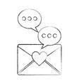 message love speech bubble communication vector image
