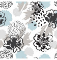 minimal floral background abstract poppy flowers vector image