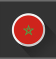 morocco national flag on dark background vector image vector image