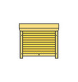 motorized shutters blinds colored thin line icon vector image
