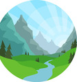 Mountain View Background vector image