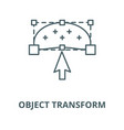 object transform line icon linear concept vector image vector image