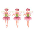 Pink Floral Fairy vector image vector image