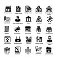 real estate glyph icons 1 vector image vector image