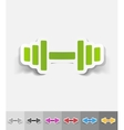 realistic design element barbell vector image vector image