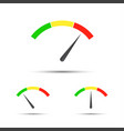 set of color tachometers flowmeter vector image