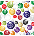 shiny christmas decoration with snowflake seamless vector image