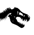 skeleton of tyrannosaurus rex t-rex skull vector image