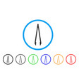 tweezers rounded icon vector image vector image
