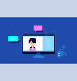 video chat concept vector image vector image