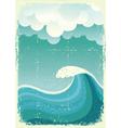 wave in ocean vector image vector image