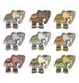 indian ethnic elephant set vector image