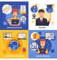 Online Education Training Design Concept vector image