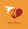 Pizza logo design template vector image