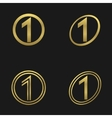 Number one icons vector image