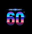 60 years anniversary celebration logotype vector image vector image