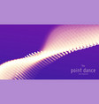 abstract violet particle wave points array vector image