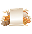 Bakery scroll vector image