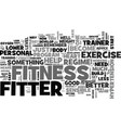 become healthier become fitter text word cloud vector image vector image