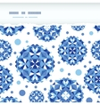 Blue abstract circles square seamless pattern vector image vector image