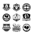 Boxing Badges vector image vector image