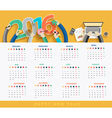 Business calendar 2016 vector image