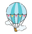 cartoon balloon toy flying transport on a white vector image