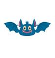 cartoon halloween bat design element for poster vector image vector image