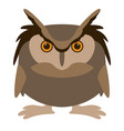 cartoon owl flat style vector image vector image