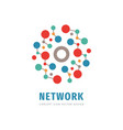 computing network - logo design technology vector image vector image