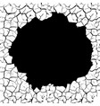 cracks with a hole on the wall vector image vector image