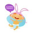 cute baby boy wearing rabbit ears toddler happy vector image vector image