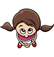 cute little girl cartoon character vector image vector image