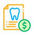 dentist stomatology list thin line icon vector image