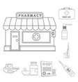 design of pharmacy and hospital icon vector image vector image