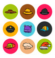 different holiday carnaval hat fashion accessory vector image