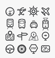 Different transport icons set vector image vector image