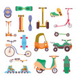 different urban park activity sport transport set vector image