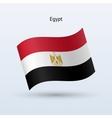 Egypt flag waving form vector image