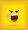 emoji emoticon smiley vector image vector image