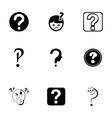 FAQ icons set vector image vector image