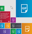 File GIF icon sign buttons Modern interface vector image vector image
