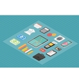 Finance isometric 3d icons vector image vector image
