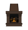 fireplace in danish hygge style vector image