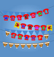 flag party decoration of football winning vector image