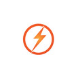 flash thunderbolt template icon design vector image vector image