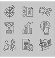 Flat Line Icons for Web Development vector image vector image